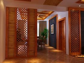 中式中式风格玄关玄关柜设计方案