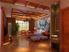中式中式风格客厅设计方案