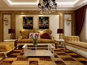 欧式古典欧式古典风格古典风格客厅图片