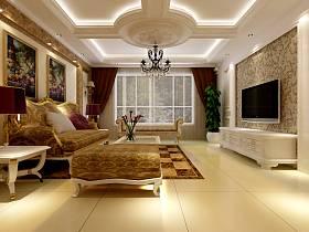 欧式古典欧式古典风格古典风格客厅设计案例