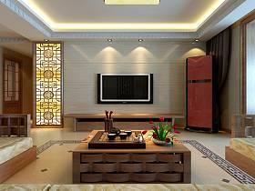 中式中式风格客厅背景墙电视背景墙效果图
