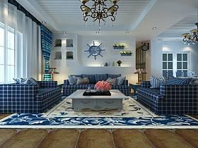 地中海地中海风格客厅装修图