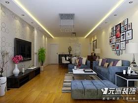 現代客廳沙發電視柜電視背景墻裝修案例