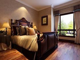美式卧室复式楼窗帘设计案例展示