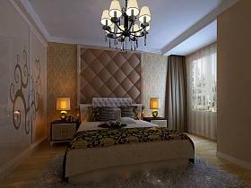 欧式现代简约卧室装修效果展示