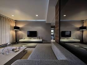 現代簡約客廳裝修案例