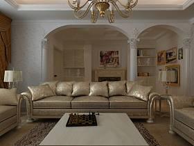 新古典古典新古典風格古典風格客廳效果圖