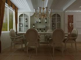 新古典古典新古典风格古典风格餐厅装修图