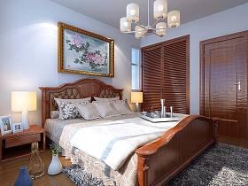 现代现代风格木床装修图