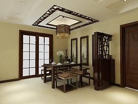 中式中式风格餐厅吊顶图片