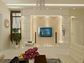 简约简约风格客厅电视墙装修效果展示