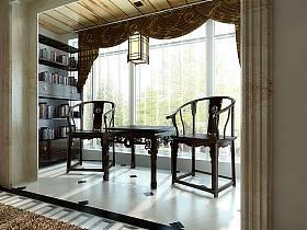 混搭混搭风格阳台窗帘装修案例