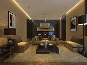 现代客厅别墅装修效果展示