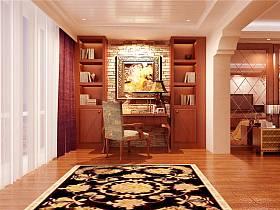 欧式书房别墅窗帘装修效果展示