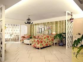 田園美式田園風格客廳設計案例