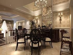 古典餐厅吊顶效果图