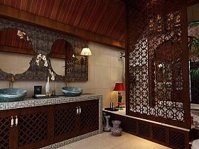 中式中式风格新中式卫生间装修图