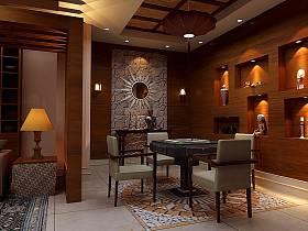 中式中式風格新中式休閑區設計案例