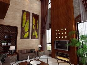 中式中式风格新中式客厅装修效果展示