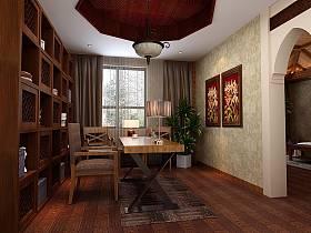 中式中式风格新中式书房装修图