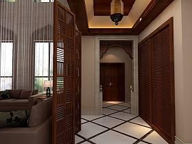 中式中式风格新中式走廊设计方案