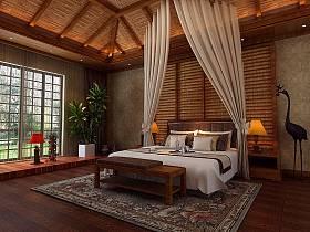 中式中式风格新中式卧室案例展示
