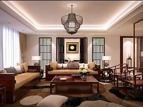 中式中式风格新中式客厅设计图