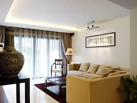中式现代客厅沙发茶几图片
