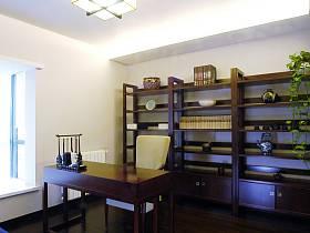 中式书房收纳装修图