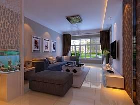 现代简约客厅沙发茶几设计图
