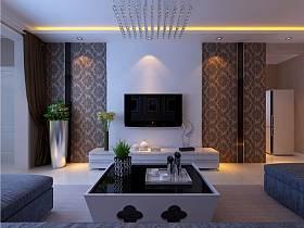 現代簡約客廳電視背景墻裝修案例