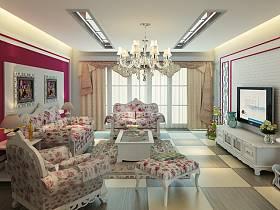 韩式韩式风格客厅效果图