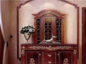 美式古典美式風格過道邊柜設計案例展示