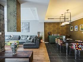 混搭客廳餐廳設計案例