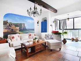 地中海客廳餐廳沙發單人沙發設計方案