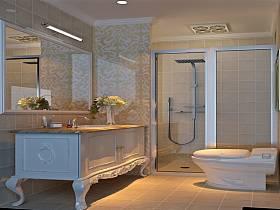 欧式浴室效果图