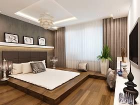 簡約港式風格臥室吊頂設計方案
