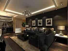 簡約客廳背景墻沙發客廳沙發設計案例