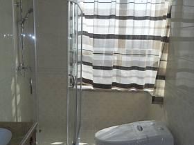 中式衛生間窗簾設計圖