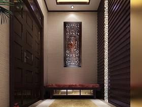 中式中式风格玄关玄关柜效果图