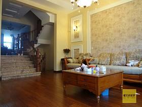 美式客厅过道沙发单人沙发设计案例展示