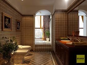 美式卫生间设计图