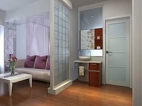 現代一居室隔斷圖片