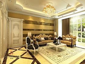 歐式歐式風格客廳背景墻沙發客廳沙發設計圖