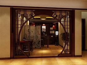 中式书房玄关玄关柜装修案例