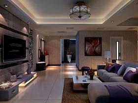 现代客厅沙发茶几装修效果展示