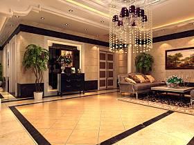 欧式客厅大厅沙发茶几装修案例