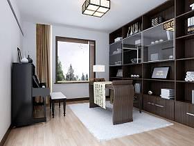 中式中式風格書房交換空間案例展示
