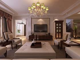 美式美式風格客廳背景墻電視背景墻圖片