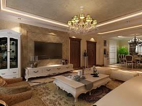 欧式简欧简欧风格客厅吊顶背景墙电视背景墙装修案例